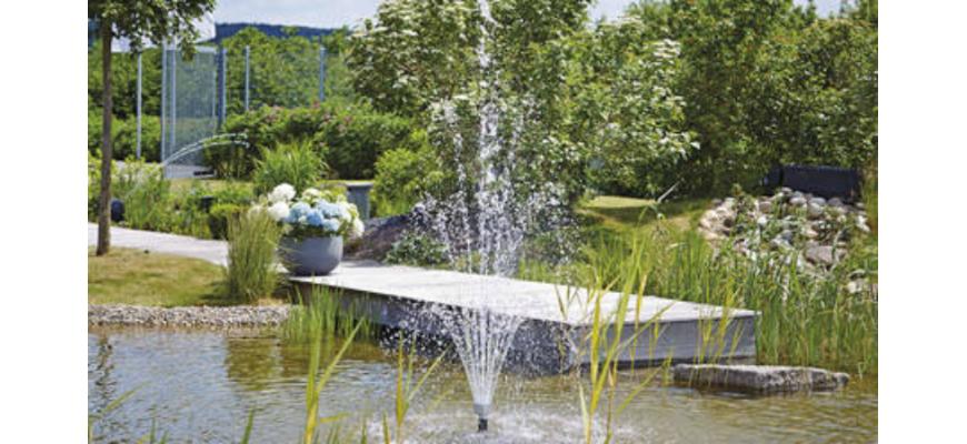 Pompe pour jet d'eau et fontaine